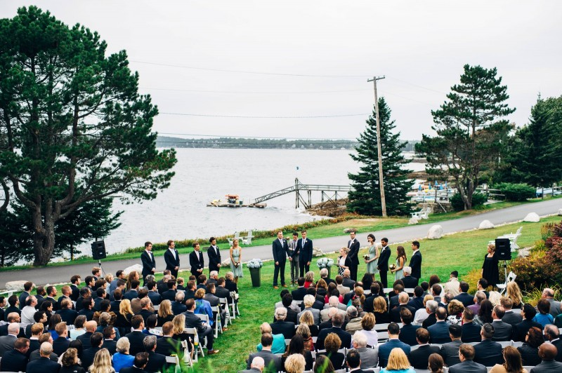 Spruce Point Inn Wedding Boothbay Harbor by Fat Orange Cat Studio